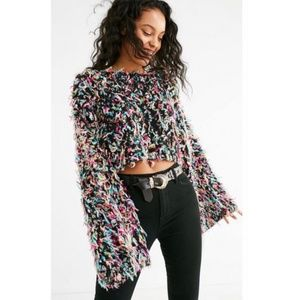 Urban Outfitters Tai Cropped Fringe Sweater  Small